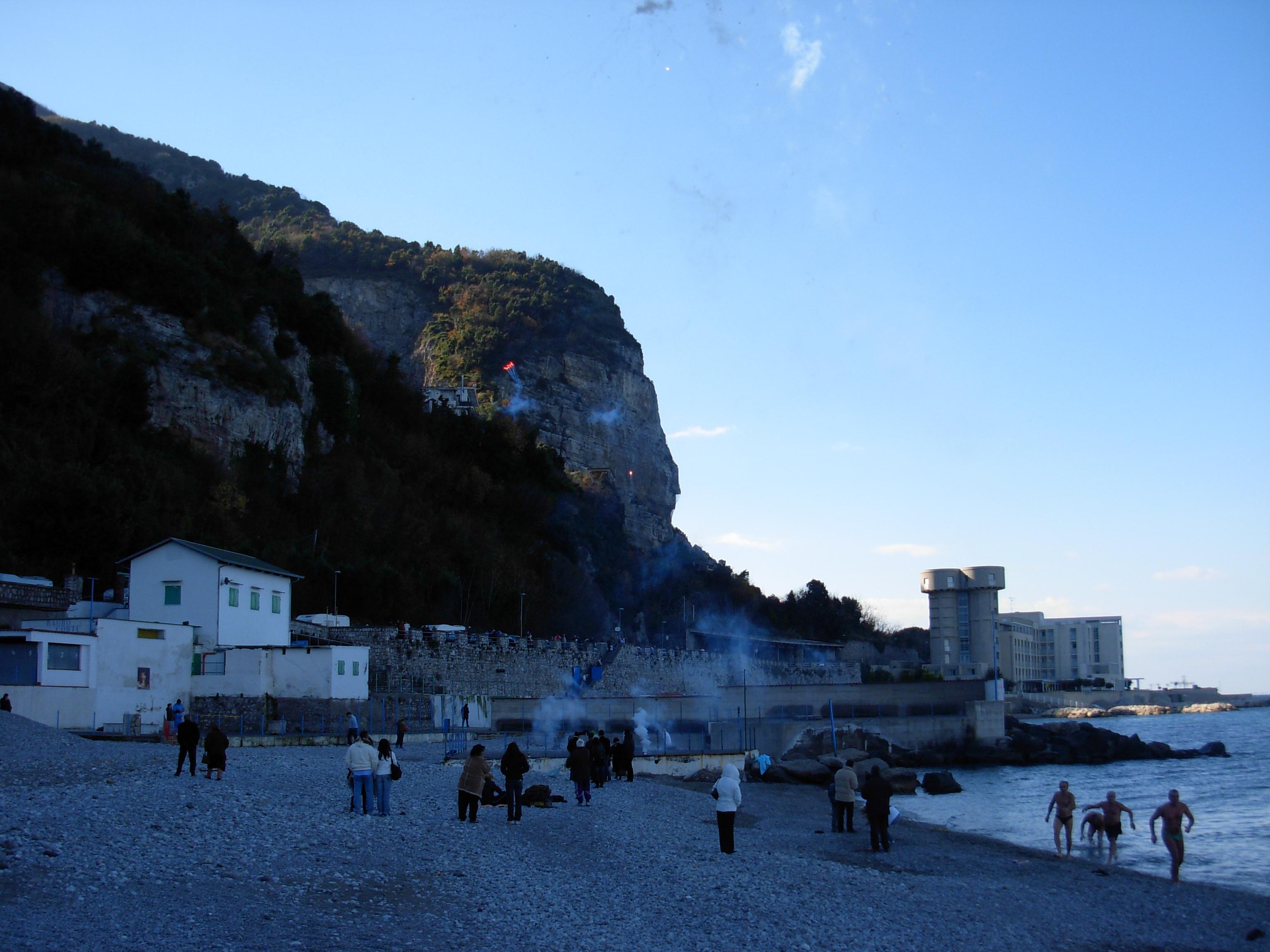 Bagno di Capodanno 2008 a Pozzano